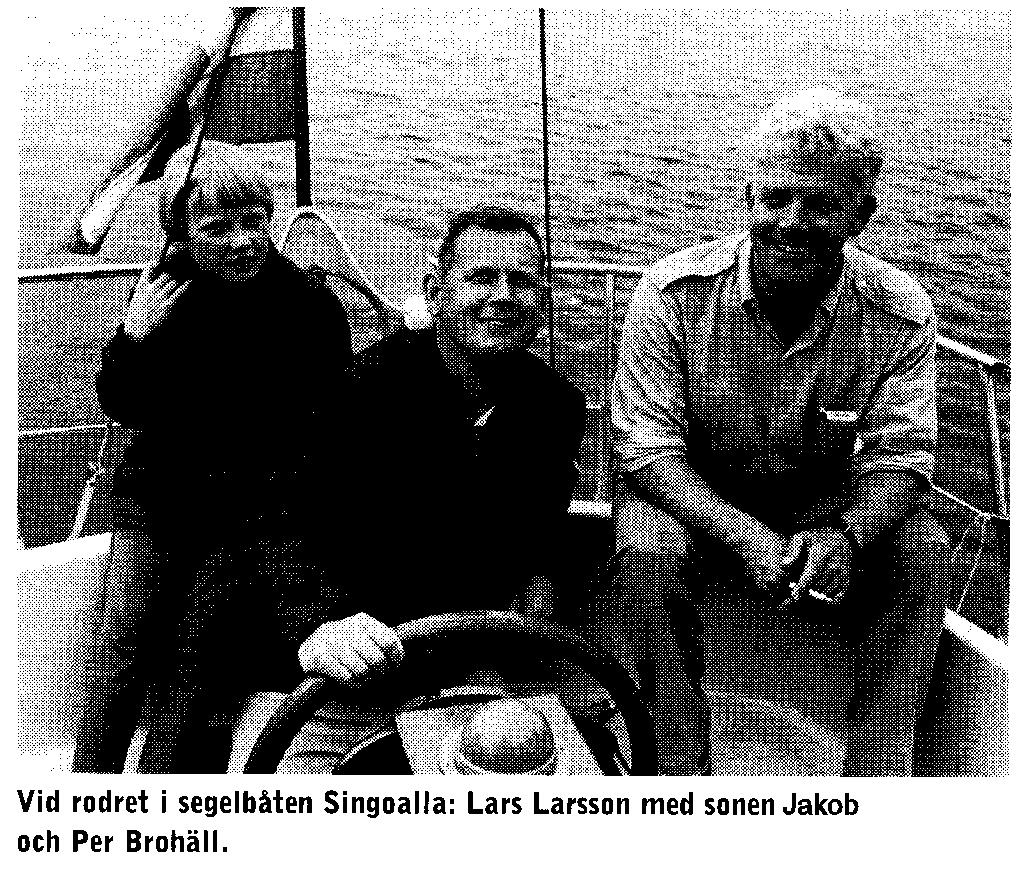 Larsson, his son Jakob, Brohäll
